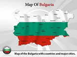 Map of Bulgaria Templates For Powerpoint