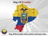 Map of Ecuador Templates For Powerpoint