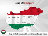 Map of Hungary Templates For Powerpoint