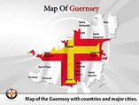 Map of Guernsey Templates For Powerpoint