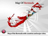Map of Bermuda Templates For Powerpoint