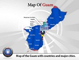 Map of Guam Templates For Powerpoint