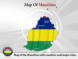 Map of Mauritius Templates For Powerpoint