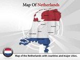 Map of Netherlands Templates For Powerpoint