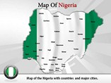 Map of Nigeria Templates For Powerpoint