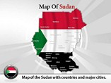 Map of Sudan Templates For Powerpoint