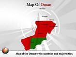 Map of Oman Templates For Powerpoint