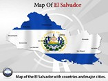 Map of El Salvador Templates For Powerpoint
