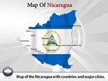 Map of Nicaragua Templates For Powerpoint