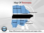 Botswana Map (PPT) Templates For Powerpoint