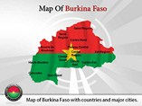 Burkina Faso Map (PPT) Powerpoint Template