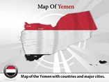 Map of Yemen Templates For Powerpoint