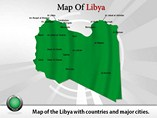 Map of Libya Templates For Powerpoint