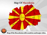 Map of Macedonia Templates For Powerpoint