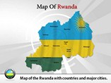 Map of Rwanda Templates For Powerpoint