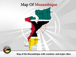 Map of Mozambique Templates For Powerpoint
