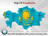 Map of Kazakhstan Templates For Powerpoint