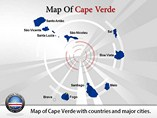 Map of Cape Verde Templates For Powerpoint