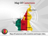 Map of Cameroon Templates For Powerpoint