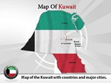 Map of Kuwait Templates For Powerpoint