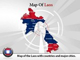 Map of Laos Templates For Powerpoint