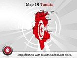 Map of Tunisia Templates For Powerpoint