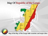 Map of Republic of the Congo Templates For Powerpoint
