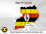Map of Uganda Templates For Powerpoint