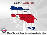 Map of Costa Rica Templates For Powerpoint
