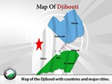 Map of Djibouti Templates For Powerpoint