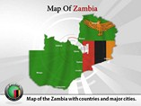 Map of Zambia Templates For Powerpoint