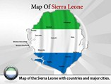 Map of Sierra Leone Templates For Powerpoint