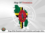 Map of Dominica Templates For Powerpoint