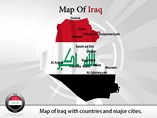 Iraq Map (PPT) Powerpoint Template