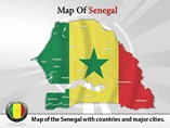 Map of Senegal Templates For Powerpoint