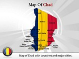 Map of Chad Templates For Powerpoint