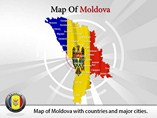 Map of Moldova Templates For Powerpoint