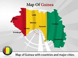 Map of Guinea Templates For Powerpoint