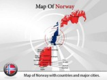 Map of Norway Templates For Powerpoint