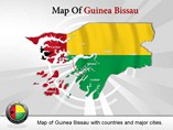 Map of Guinea Bissau Templates For Powerpoint