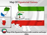 Map of Equatorial Guinea Templates For Powerpoint