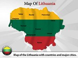 Map of Lithuania Templates For Powerpoint