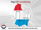 Map of Luxembourg Templates For Powerpoint