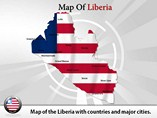 Map of Liberia Templates For Powerpoint