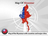 Map of Myanmar Templates For Powerpoint