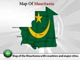 Map of Mauritania Templates For Powerpoint