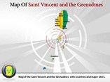 Map of Saint Vincent and the Grenadines Templates For Powerpoint