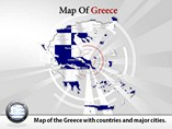 Map of Greece Templates For Powerpoint