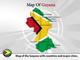 Map of Guyana Templates For Powerpoint
