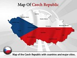 Map of Czech Republic Templates For Powerpoint